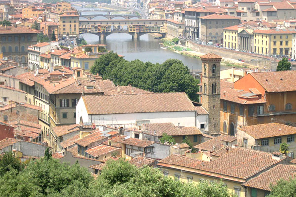 City view (600Wx400H) - View of the city from Piazzale Michelangelo. (Photo by Marco De La Pierre)