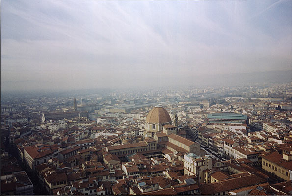 View from the Duomo (595Wx400H) - Taken from the top of the Duomo of San Lorenzo