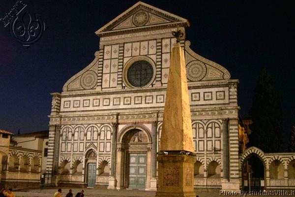 Santa Maria Novella (600Wx400H) - Santa Maria Novella (very close to the railway station) at night. (Photo by Marco De La Pierre)