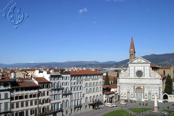 Santa Maria Novella (600Wx400H) - Santa Maria Novella (square and church) viewed from a terrace in a perfect january day.(Photo by Marco De La Pierre)