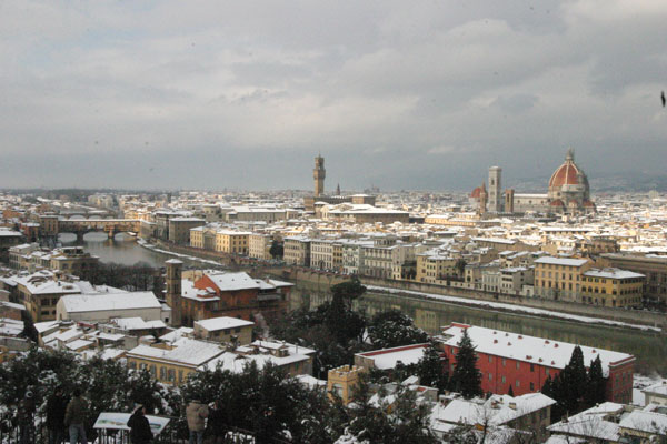 White Belvedere (600Wx400H) - A view of Florence. Picture taken in December 2005. (Photo by Marco De La Pierre)